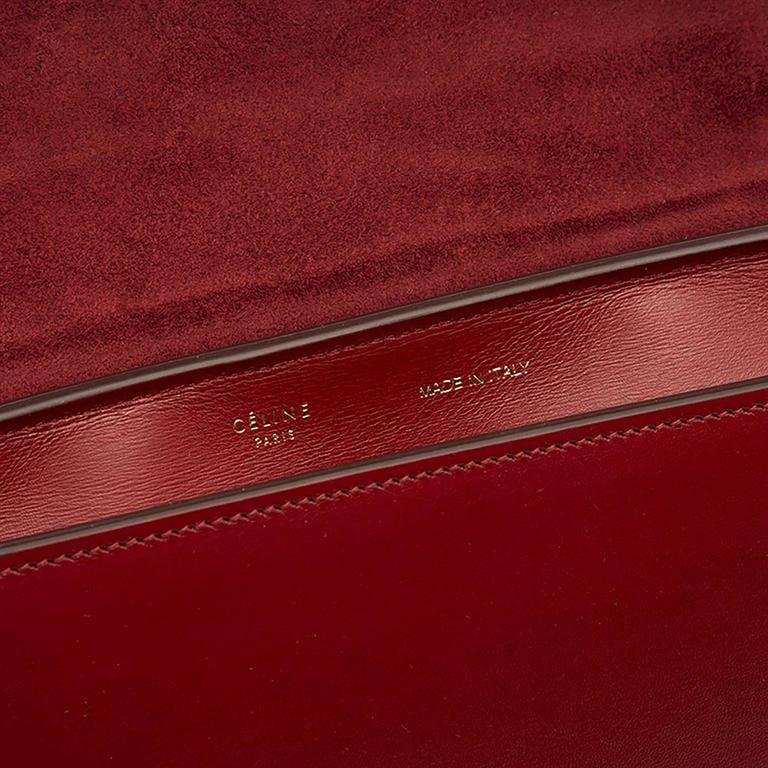 Celine Burgundy Red Trapeze Handbag 9