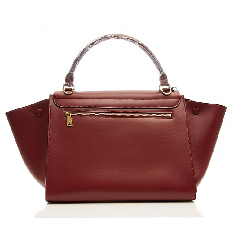 Celine Burgundy Red Trapeze Handbag 3