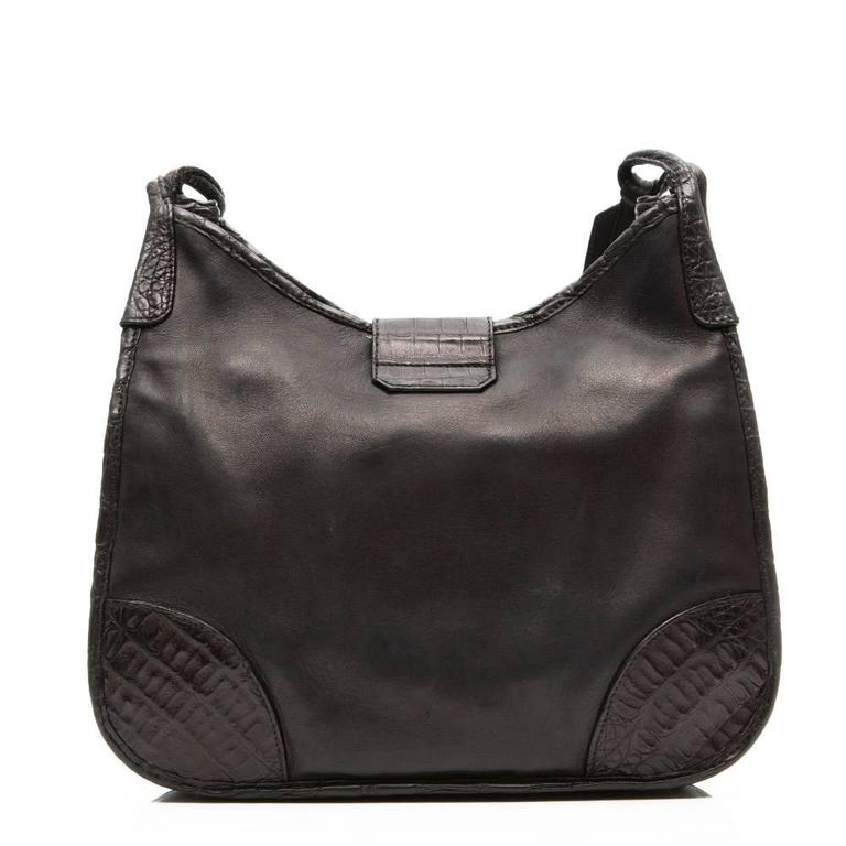 Prada Leather and Exotic Skin Cross-Body Bag In Good Condition For Sale In London, GB