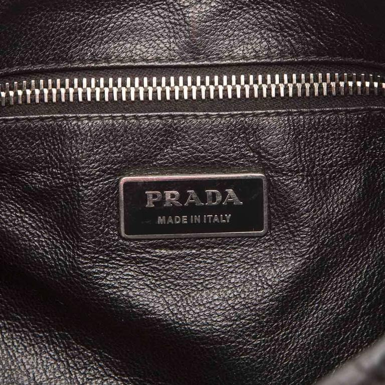 Prada Leather and Exotic Skin Cross-Body Bag For Sale 1