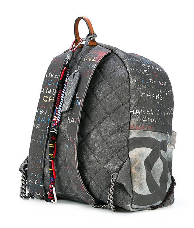 Chanel Graffiti Backpack 2