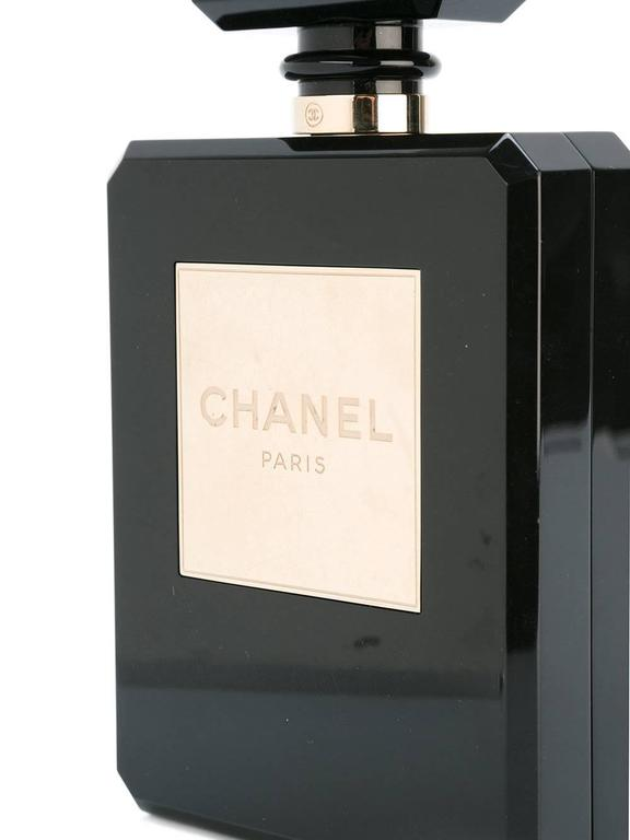 Black Chanel No5 Perfume Bottle Bag For Sale