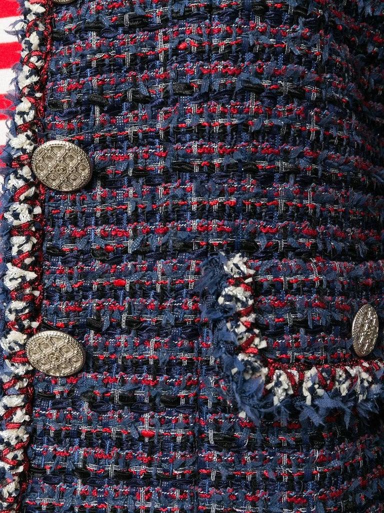 Chanel Blue Bouclé Jacket  2