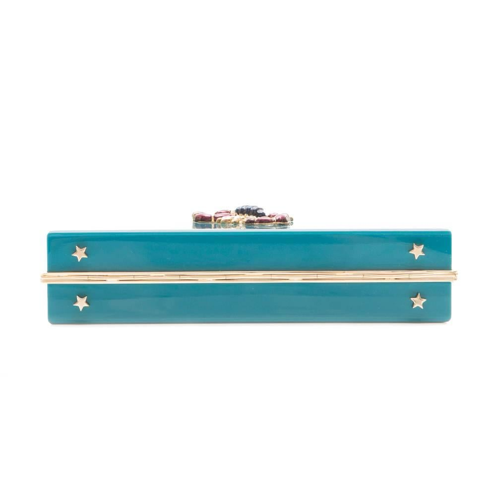 Charlotte Olympia Blue Box Scorpion Clutch cQKWT9fK