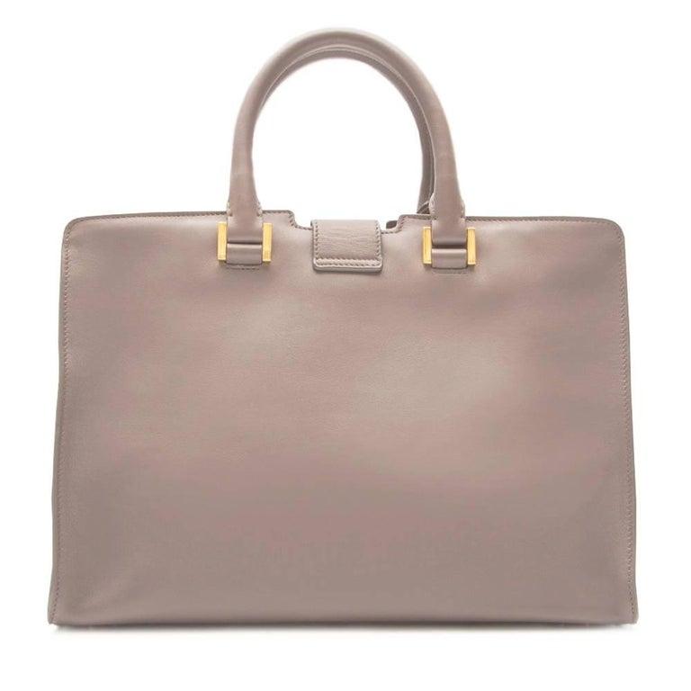 yves saint laurent grey cabas bag for sale at 1stdibs. Black Bedroom Furniture Sets. Home Design Ideas