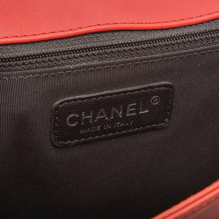 Chanel Quilted Red Boy Shoulder Bag  8