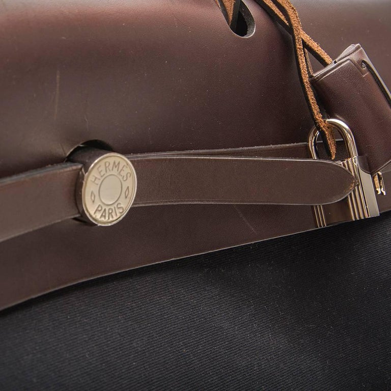 Hermes Herbag Canvas Tote Bag  For Sale 2