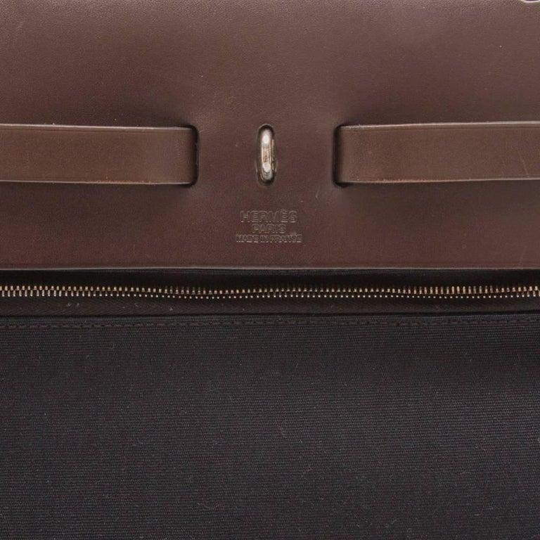 Hermes Herbag Canvas Tote Bag  For Sale 3