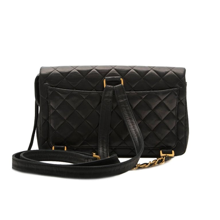 Women's Chanel Black 2.55 Backpack For Sale