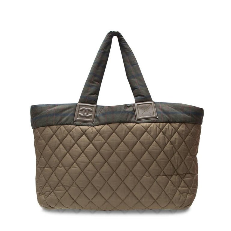 Chanel Khaki Coco Cocoon Tote Bag  In Excellent Condition For Sale In London, GB