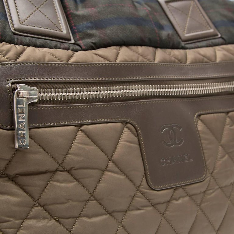 Chanel Khaki Coco Cocoon Tote Bag  For Sale 1