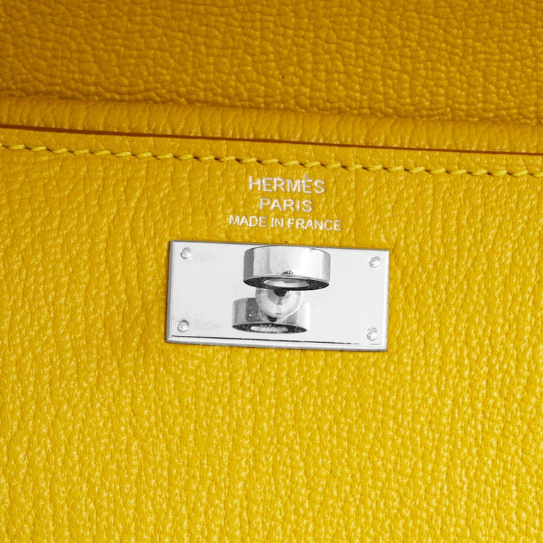 Hermes Kelly Cumin Yellow Wallet For Sale 3
