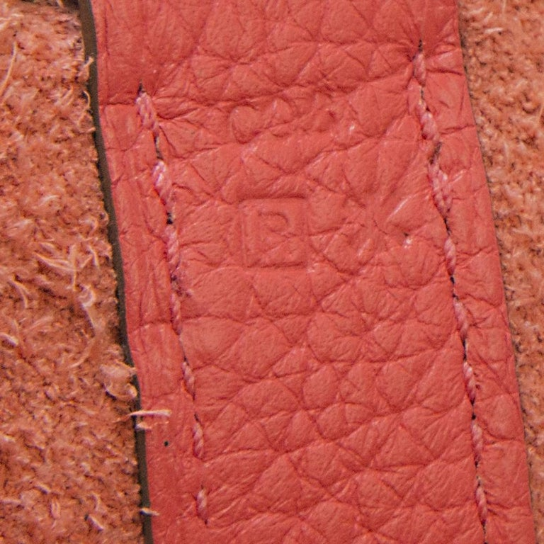 Women's or Men's Hermes Rose Jaipur Clemence Leather 28cm Picotin Bag For Sale