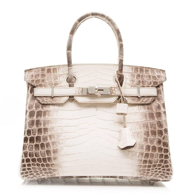 Hermes Himalayan Matte Nilo Crocodile 30cm Birkin In New never worn Condition For Sale In London, GB
