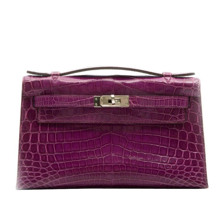 Hermes Niloticus Crocodile Kelly Pochette Bag
