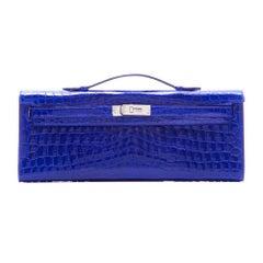 Hermes Electric Blue Kelly Cut Pochette Clutch BRAND NEW