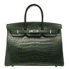 Hermès Vert Fonce  Matte Alligator Birkin 35cm BRAND NEW