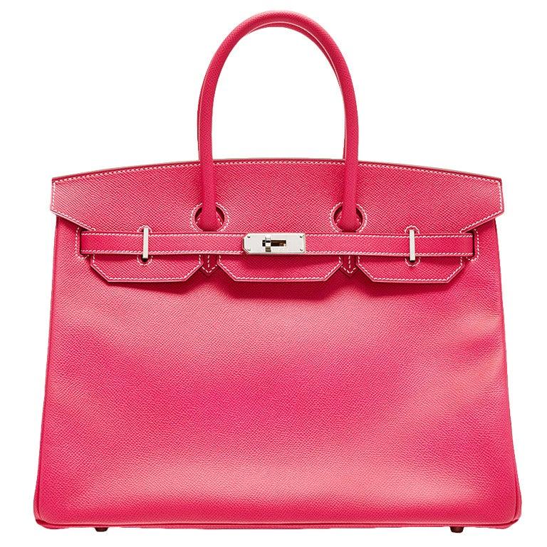 Hermès Hot Pink Scheherazade Togo Leather Birkin HAC 32cm