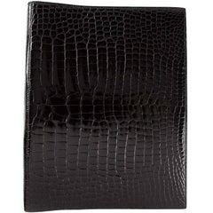 Hermès Crocodile Leather Ring Binder