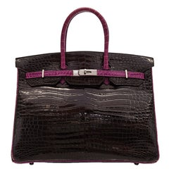 Hermès Black Limited Edition Crocodile Birkin 35cm
