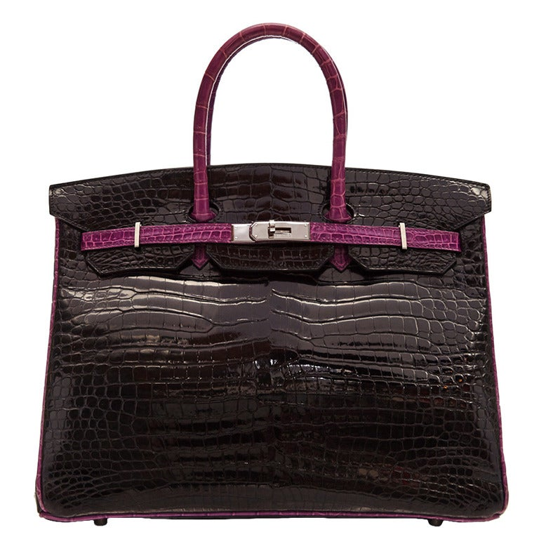 Hermès Black Limited Edition Crocodile Birkin 35cm