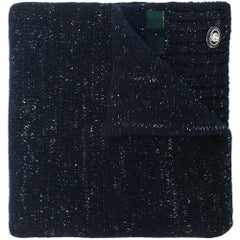 Chanel Navy Cashmere Scarf