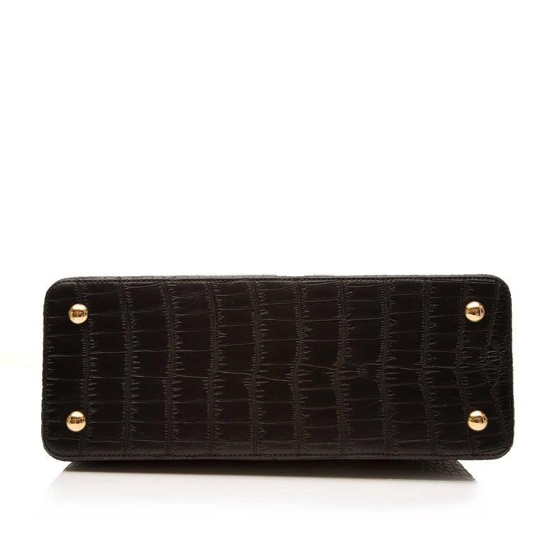 Louis Vuitton Matte Black Crocodile Capucines Tote Bag For Sale 1