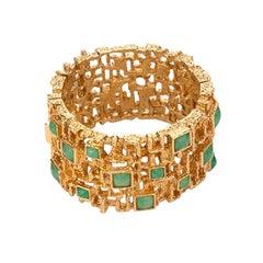 Vintage 1960's Panetta Green Bracelet