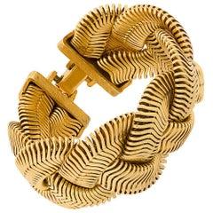 Vintage 1970s Gold Cuff Bracelet