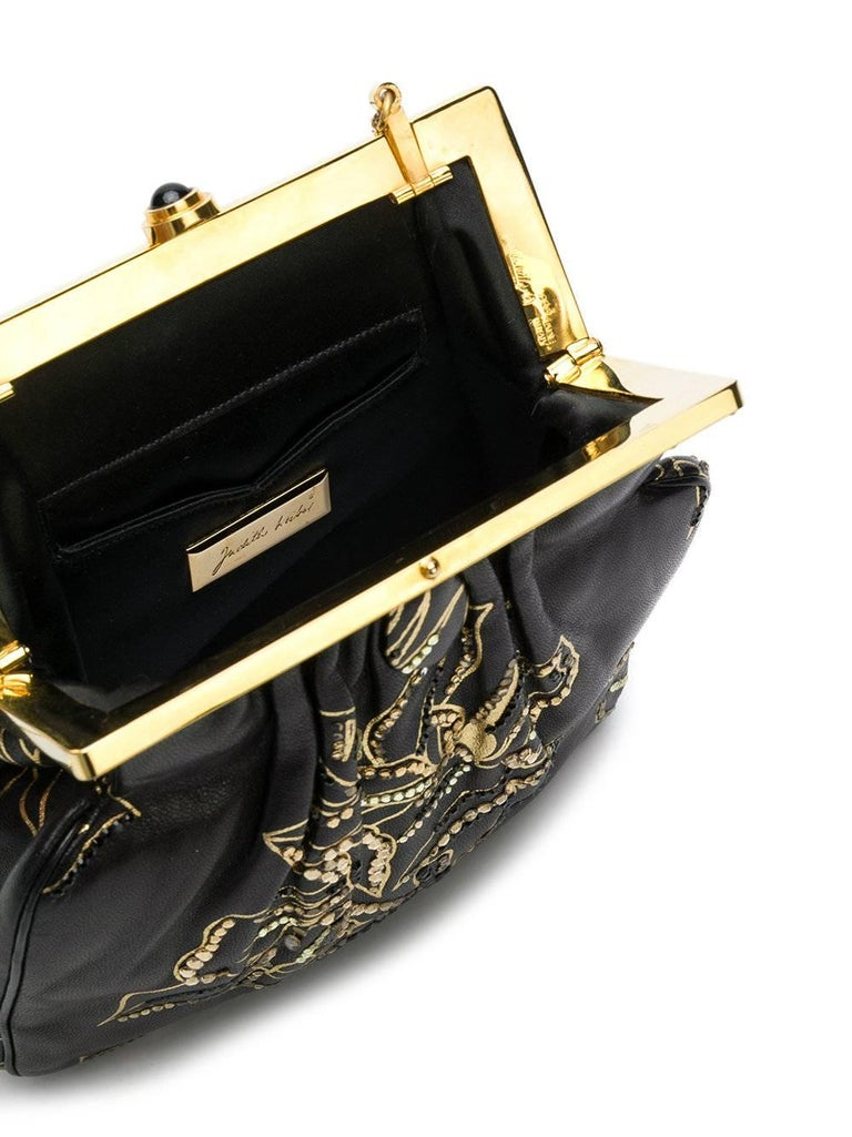 Judith Leiber Vintage Leather Evening Bag In Excellent Condition For Sale In London, GB