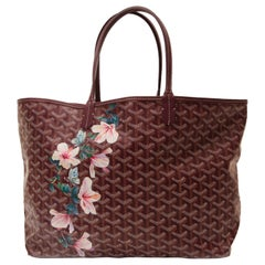 "Goyard Customised ""Hibiscus Flowers"" Monogram St Louis Bag"