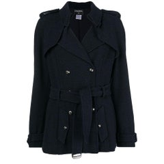 Chanel Navy Double-breasted Coat