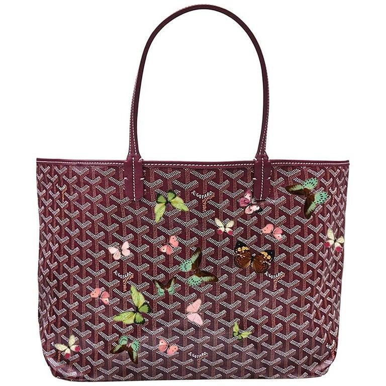 Goyard Customized Bordeaux 'Butterflies' Monogram St Louis PM Bag For Sale