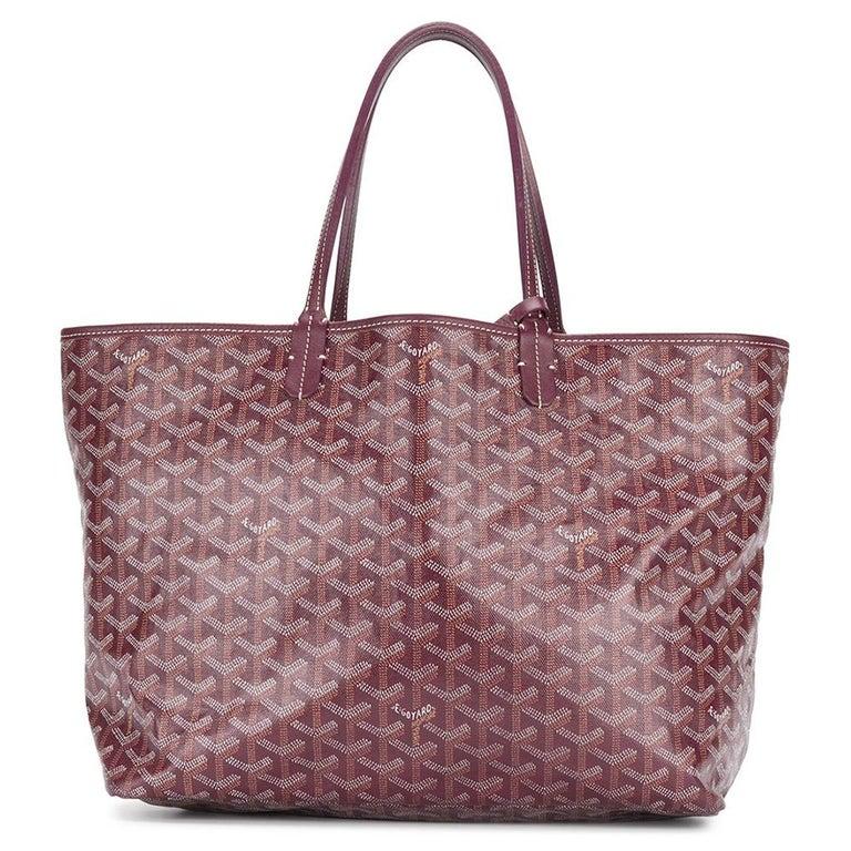 Women's Goyard Customized Bordeaux 'Butterflies' Monogram St Louis PM Bag For Sale