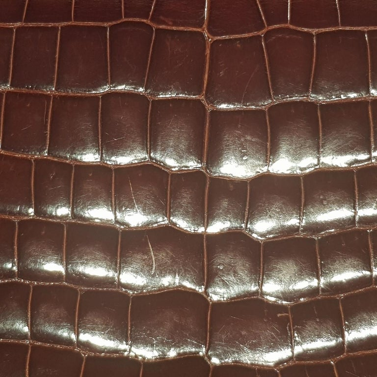 Hermès Miel 23cm Crocodile Constance Bag For Sale 4
