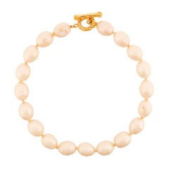 Chanel Baroque Faux-Pearl Choker Necklace
