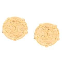 Chanel Logo Oversized Earrings