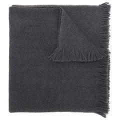 Hermes Charcoal Wool Scarf