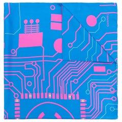 Chanel Silk Wiring Print Scarf