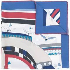 Chanel Planes-Printed Silk Scarf