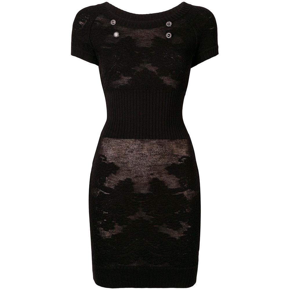 Chanel Semi-Sheer Knit Dress