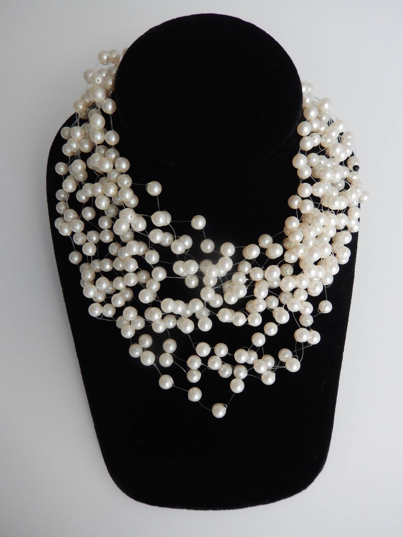 1970s Langani Multi-Strand Pearl Necklace 4