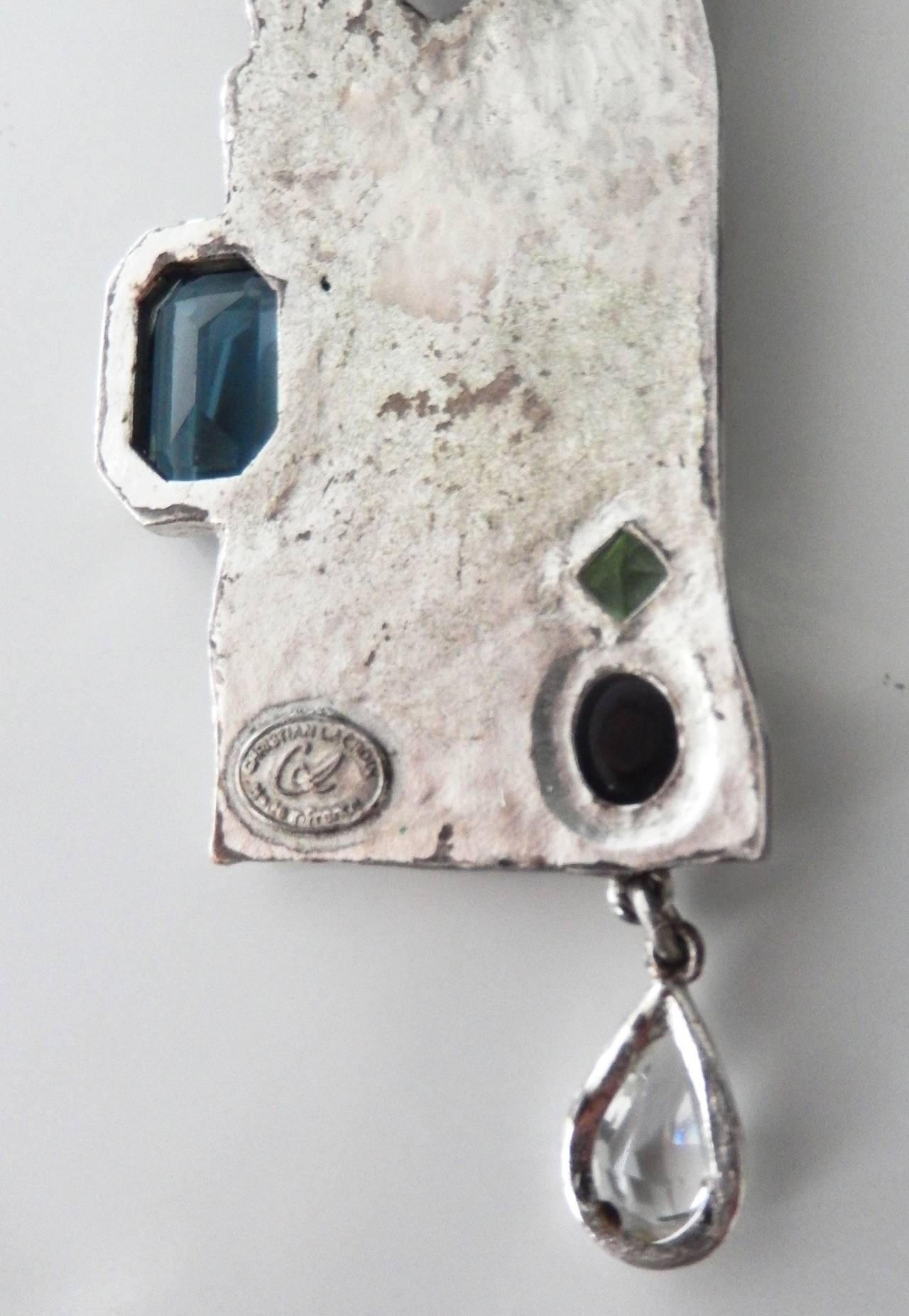 1990s Lacroix Modern Tribalist Necklace For Sale 4