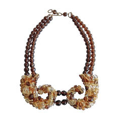 Coppola e Toppo Double-Strand Beaded Necklace, 1960s