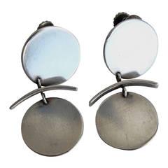 Betty Cooke Mid-Century Modern Sterling Silver Earrings