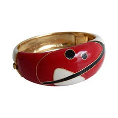 Balenciaga Red/Black Art Deco/Futuristic Cuff