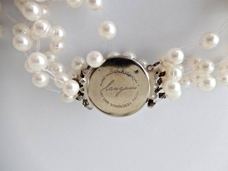 Langani Multi-Strand Pearl Necklace, 1970s 8
