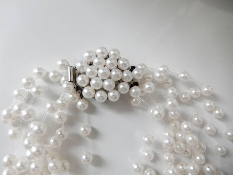 Langani Multi-Strand Pearl Necklace, 1970s 7