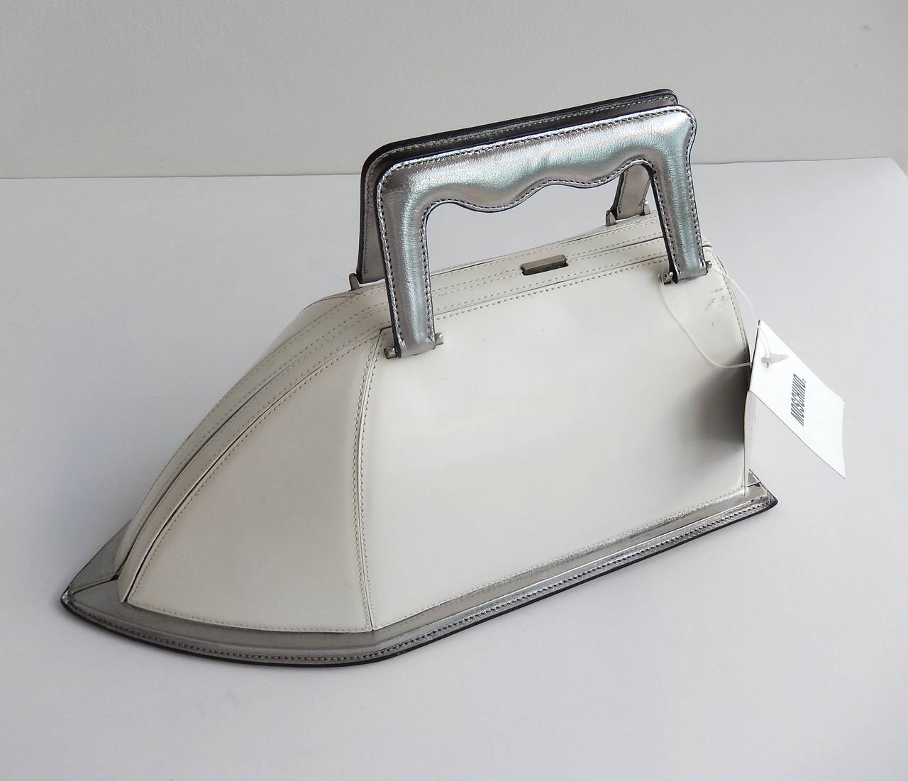 A Rare Handbag By Moschino In The Shape Of Steam Iron