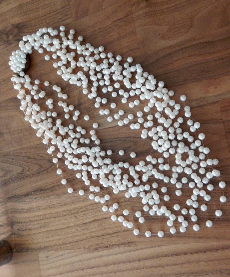 1970s Langani Multi Strand Pearl Necklace 6